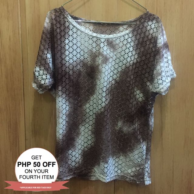 Coverup Brown Top