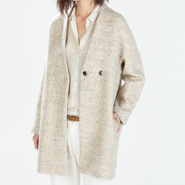 Cute Beige Jacket Size M