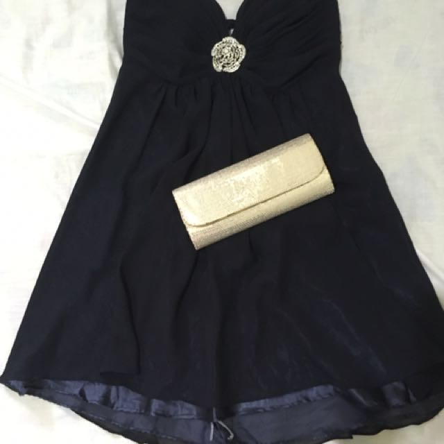 Dark Blue Cocktail Gown