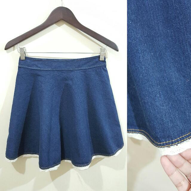 Denim Round Skirt