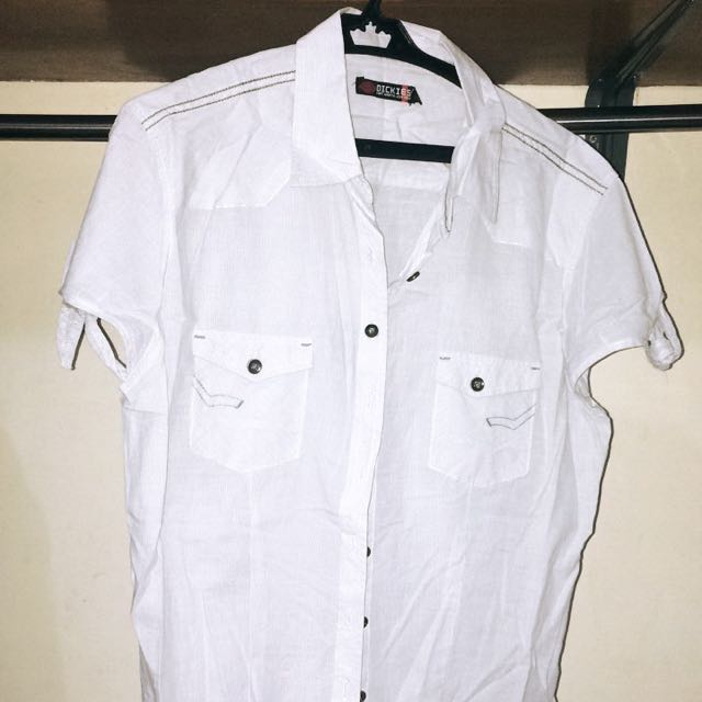 Dickies White Short Sleeve Polo