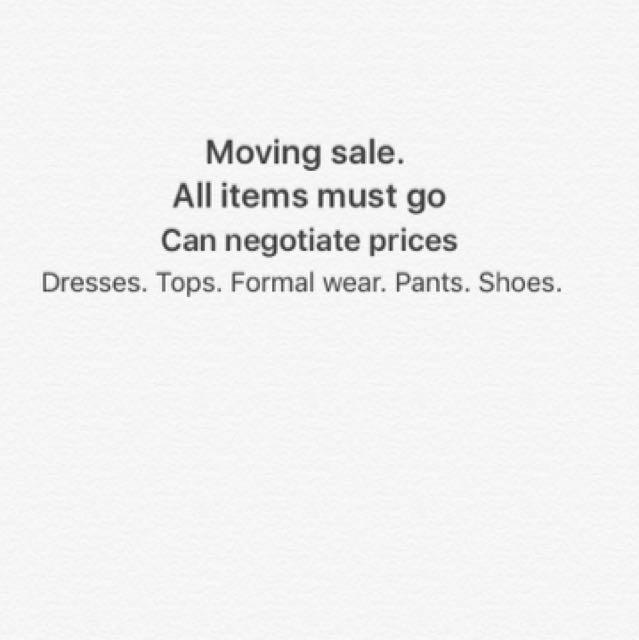 Dresses. Pants. Jumpers. Tops. Shoes