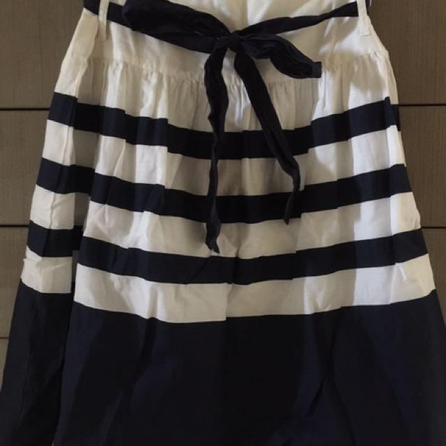 Emerson Navy & White Stripe Skirt