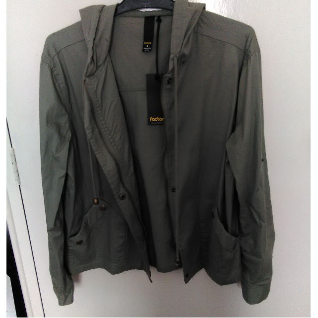 Factorie. Khaki hooded jacket. BRAND NEW. Size small.