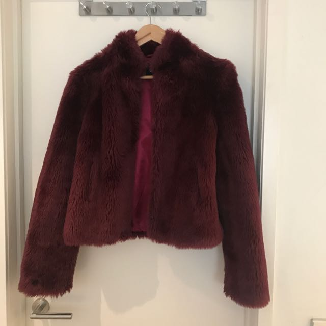 Faux Fur Sports Girl Jacket