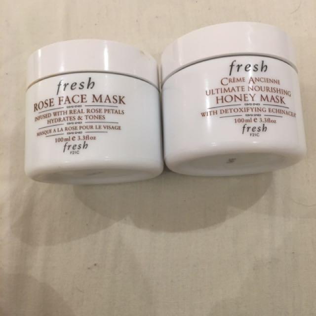 FRESH - Rose Face Mask And Hydrating Honey Mask