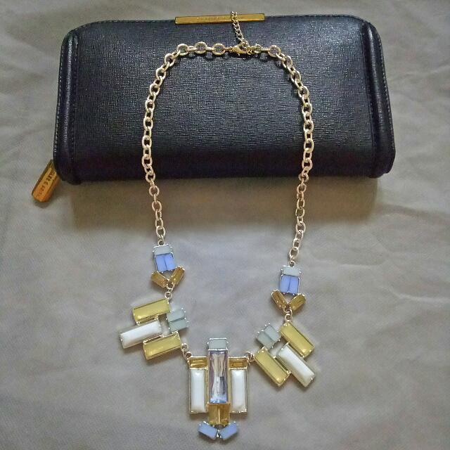 Gem Block Necklace