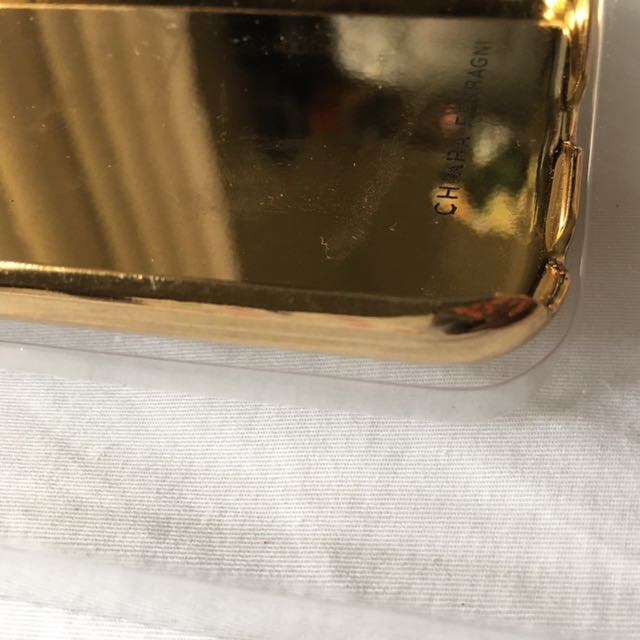 Gold Leather Wink Iphone 6/6s case