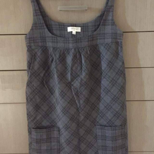 Grey Tartan Dress