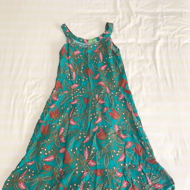 Haap Green Batik Flow Dress