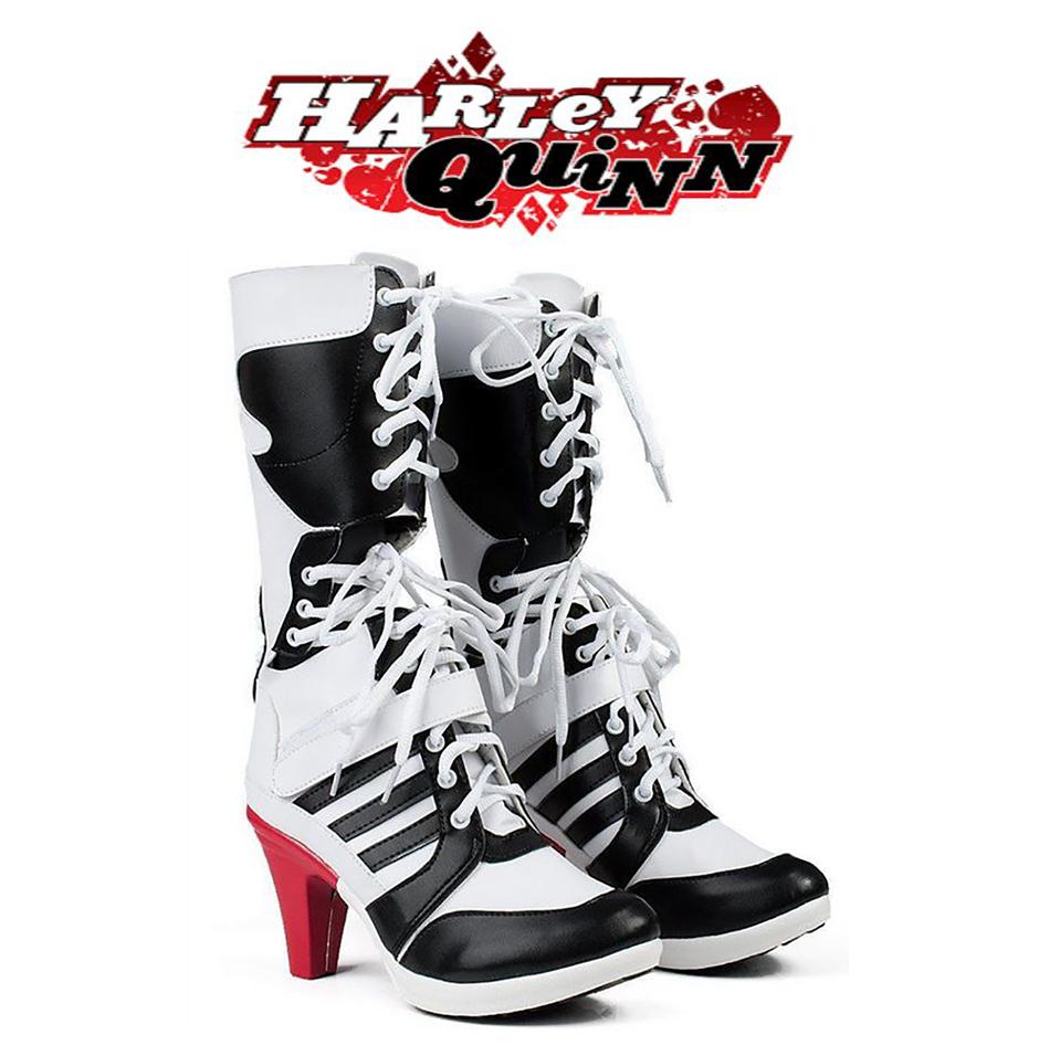 42605ad00d94c5 Harley Quinn Boots Suicide Squad Shoes High Heels DC Comics ...