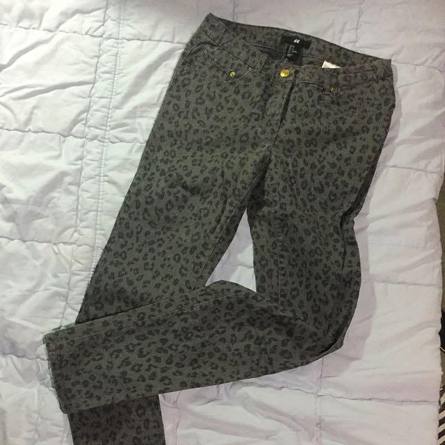H&M Cheetah Printed Jeans