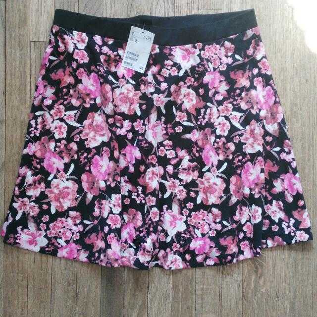 H&M Floral Pink Skirt