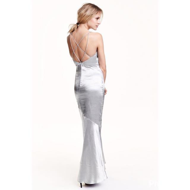 H&M Silver Long Dress