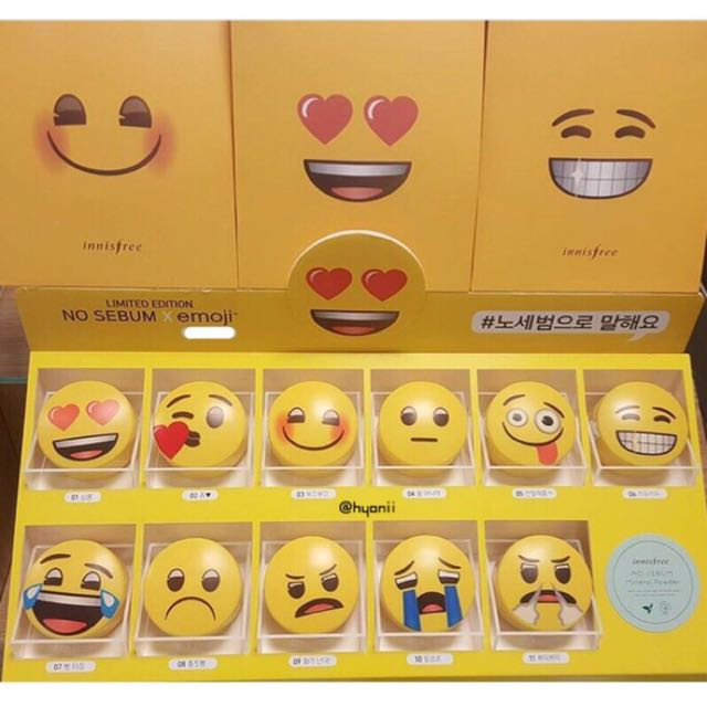 Innisfree No sebum x emoji 礦物質控油蜜粉 5g 韓國代購🇰🇷