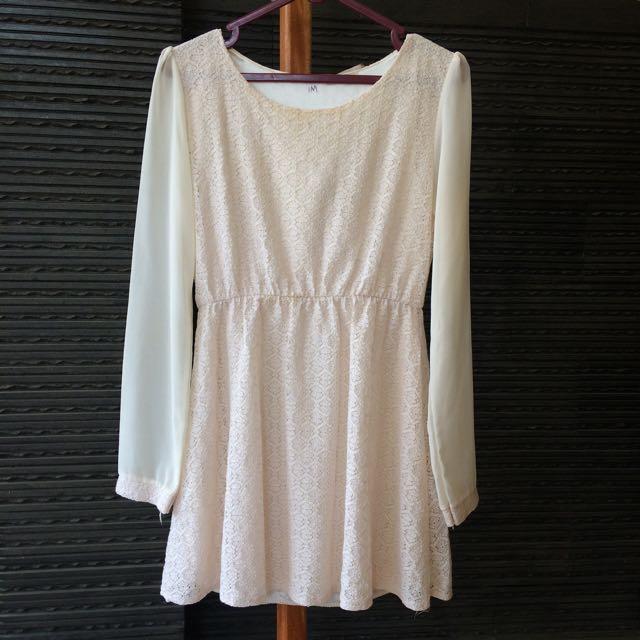 Ivory Top / Mini Dress
