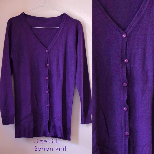 Knit Purple Cardigan