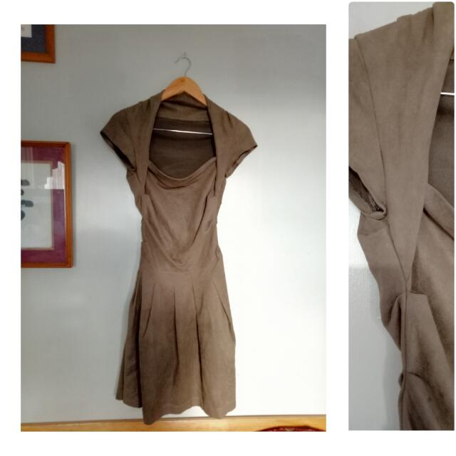 Little Brown Dress (soft leather material)