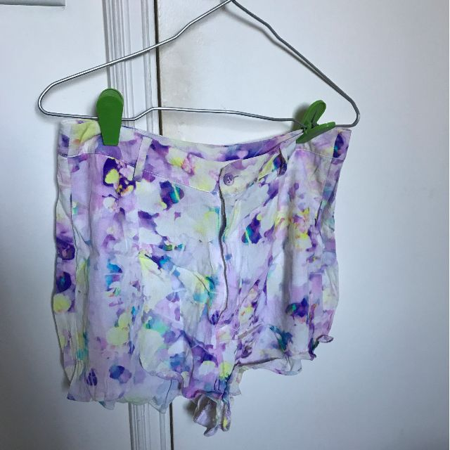 Minkpink marble purple shorts