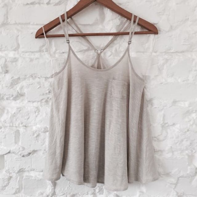 MNG Oatmeal Strappy Cami