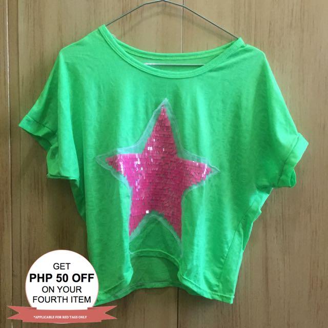Neon Green Crop Top