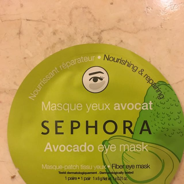 NEW Sephora Avocado Eye Mask