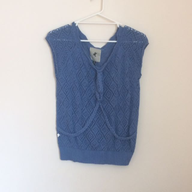One Teaspoon Blue Knitted Top