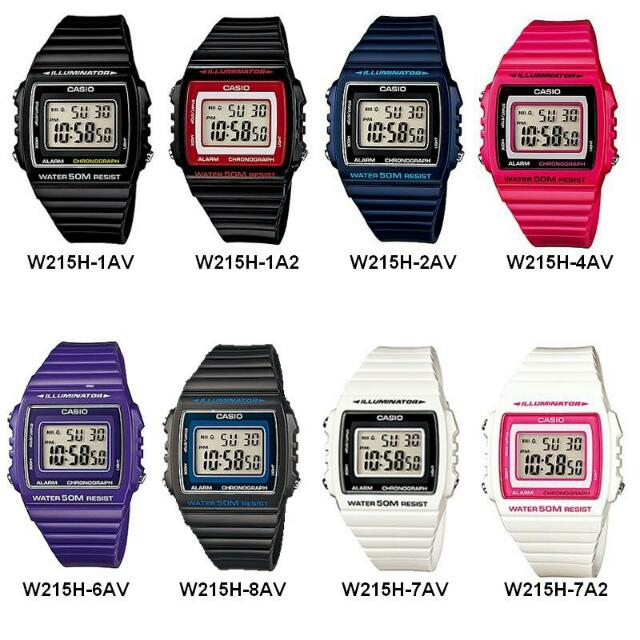 Original Casio W215H