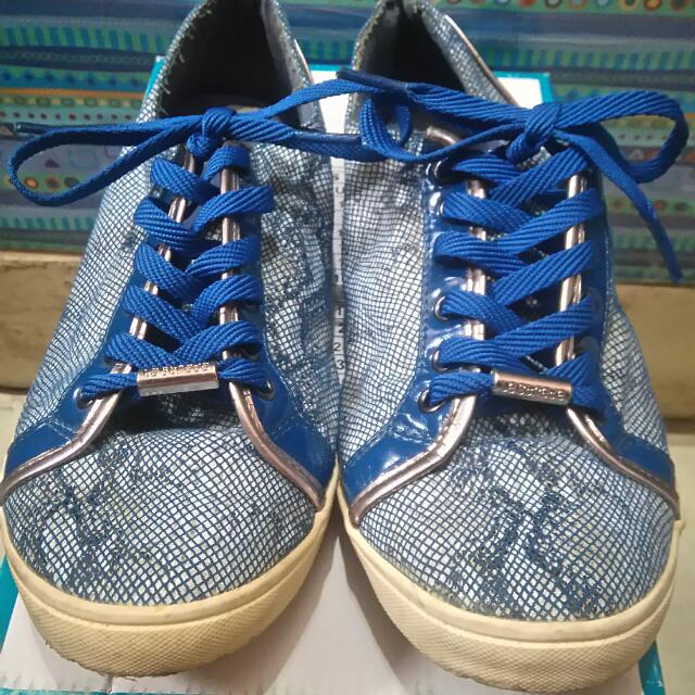Original La Strada low cut sneaker shoes blue snake skin design not converse vans nike adidas