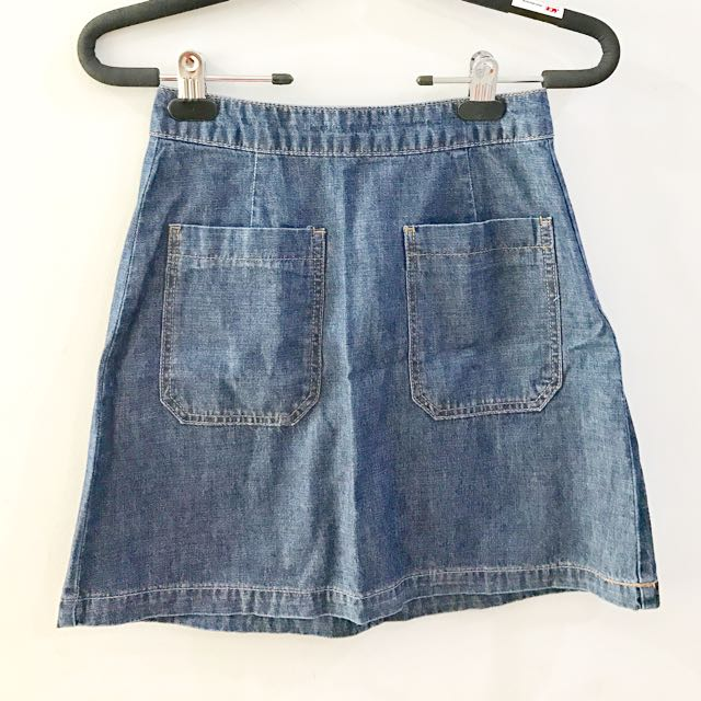 Original Stradivarius Denim Skirt