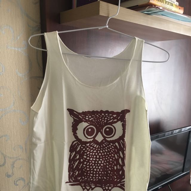 Owl Tank Top - Broken White