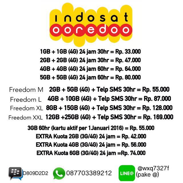 Paket Internet Indosat Mobile Phones Tablets On Carousell