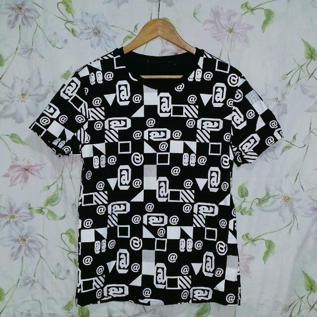 Patterned Black Shirt