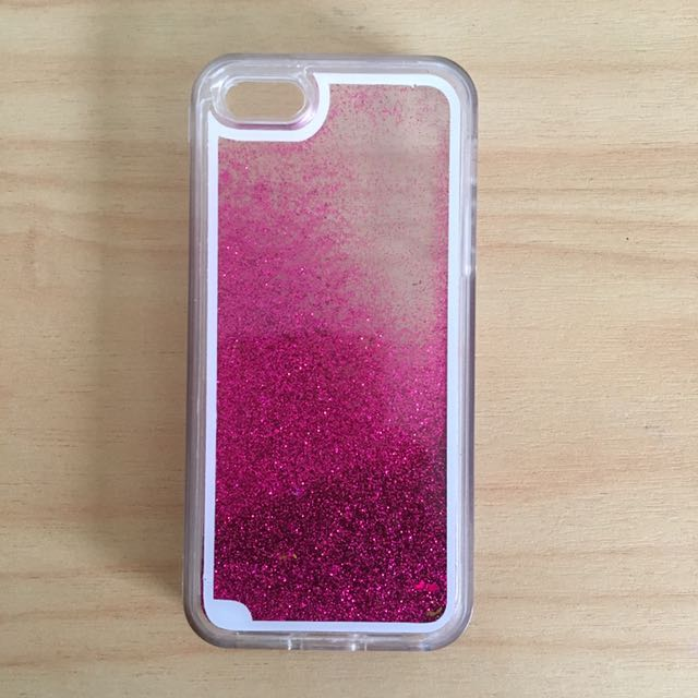 Pink and Gold Star Glitter iphone 5s Case