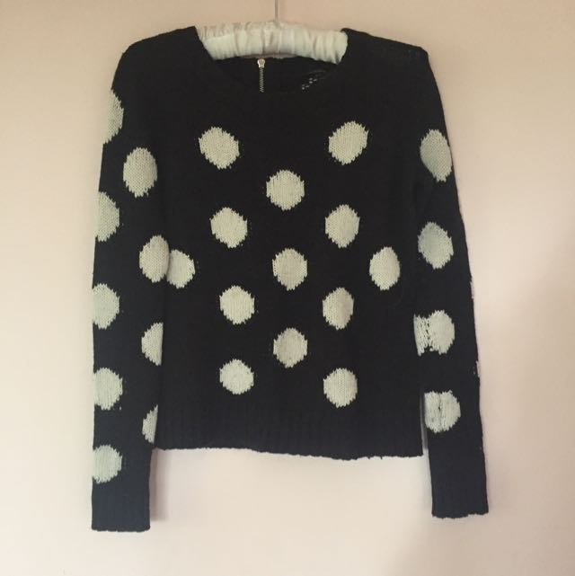 Portmans black and white spotted top
