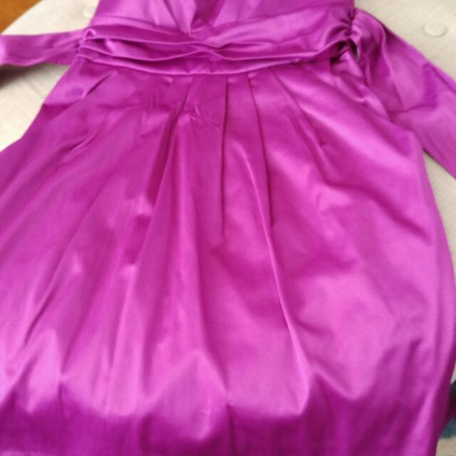 Purple Silky Dress. XS