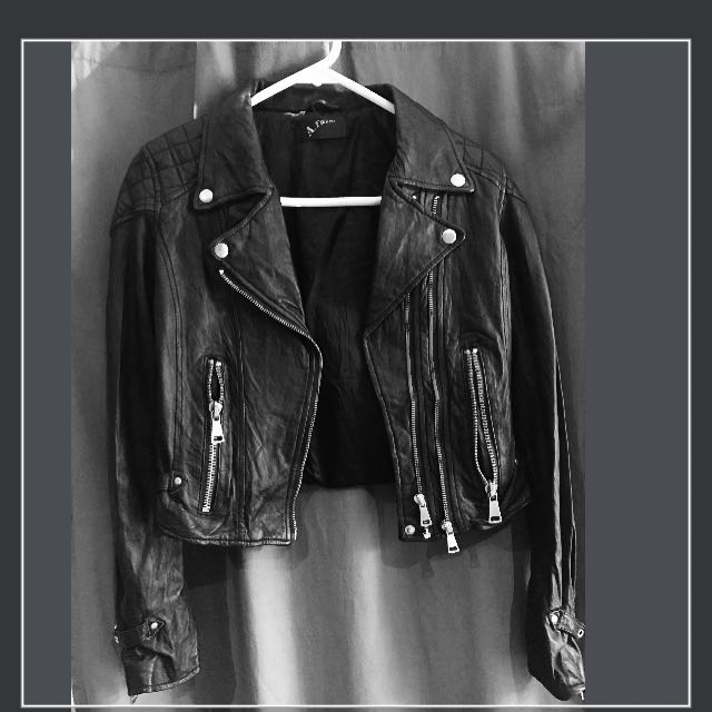 Real Leather Jacket Xs - S