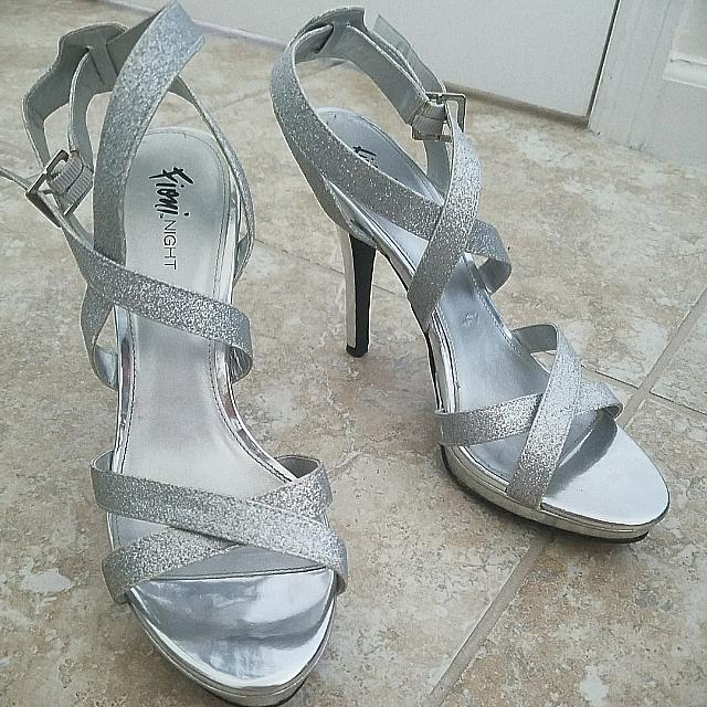 Silver Highheels -Size 11-