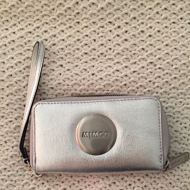 Silver Mimco Tech Wallet/Purse