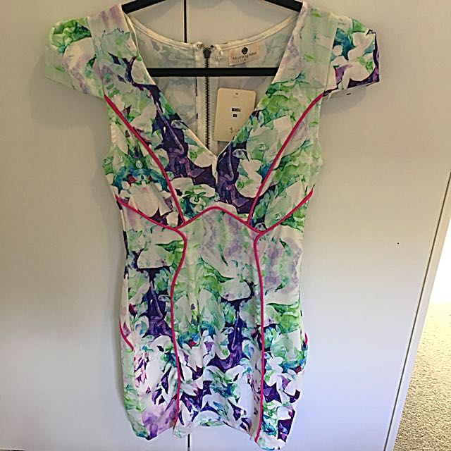Size 8 White Floral Dress