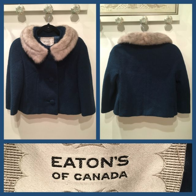 Size M - Vintage Fur Collar Jacket