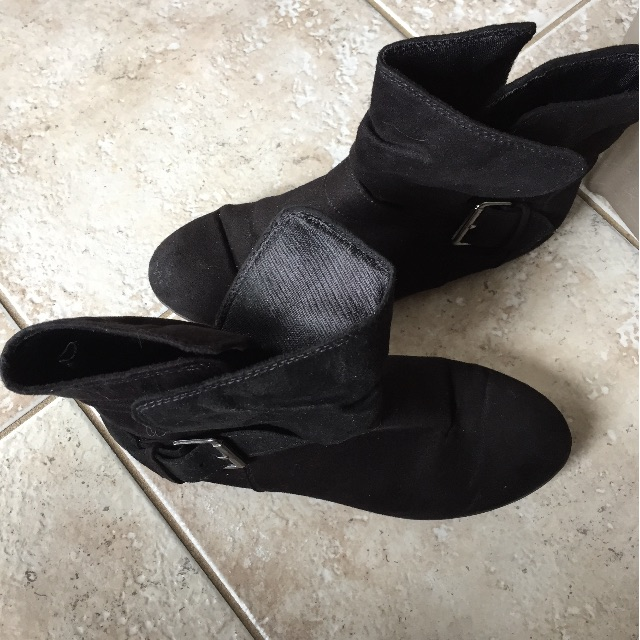 Suede booties. size 7.5