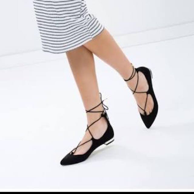 Therapy Black Strappy Flats
