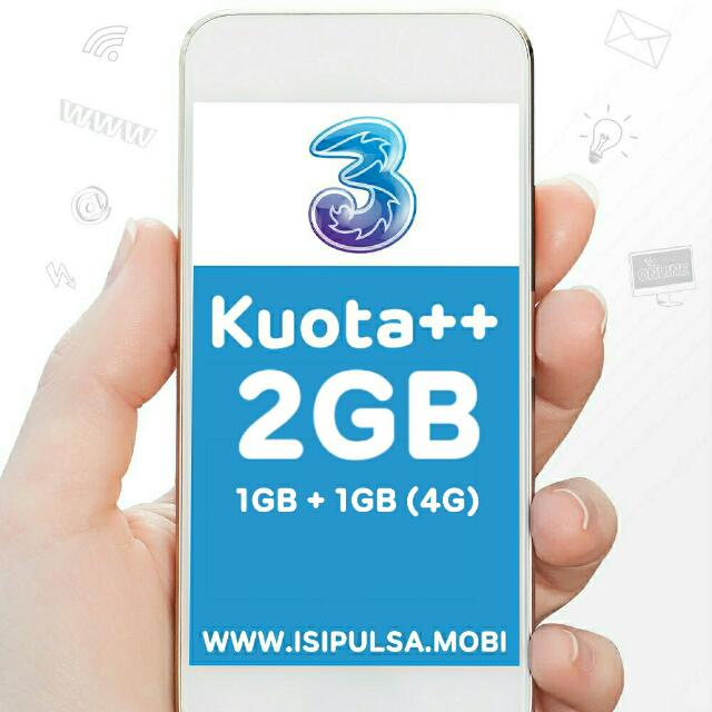 Three Kuota++ 2GB