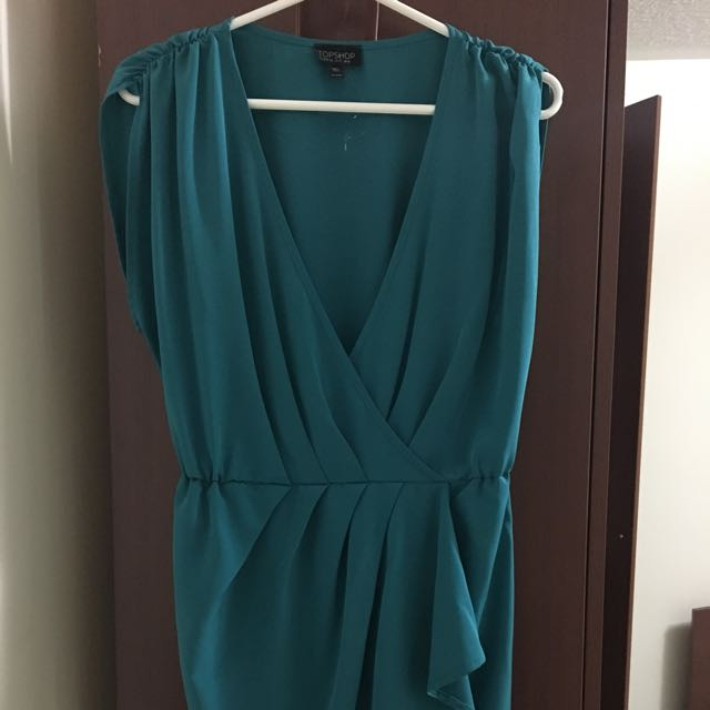 Topshop Drape Dress