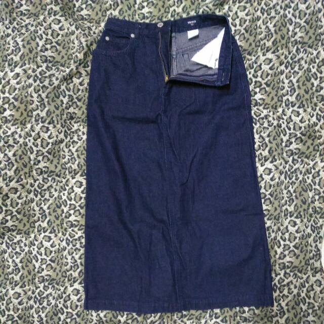 UNIQLO Long Denim Skirt