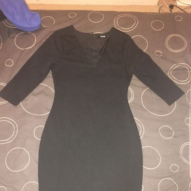 Valley Girl Black Dress Size M