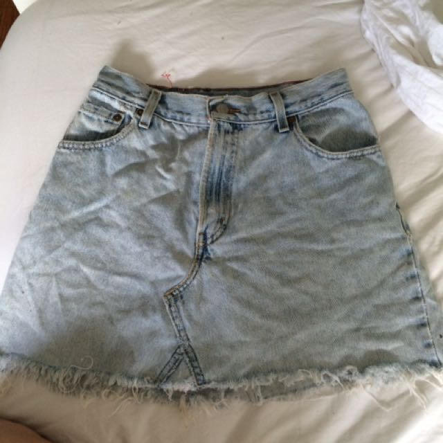 Vintage Levi Skirt High Waisted