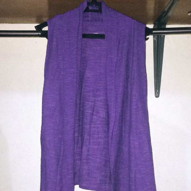 Violet Sleeveless Cardigan