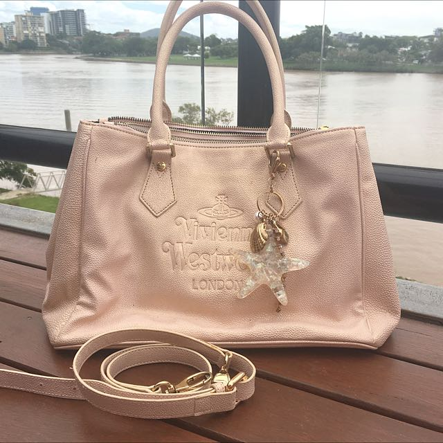 Vivian Westwood twinkle pink handbag with shoulder belt